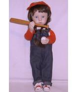 Porcelain Doll Sarah the Little Slugger 12 Inch... - $19.95