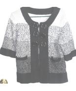 Sweater Jacket sz M Ladies By Dressbarn Button Up - $4.95
