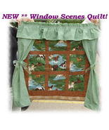 **NEW**Customized **Window Scenes** Wall Quilt * - $55.00