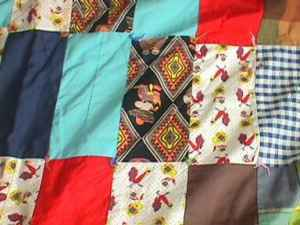 Vintage Patch Work Quilt Rectangle Western