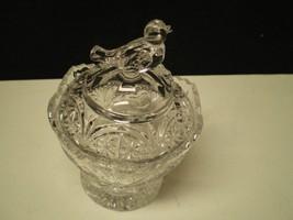 Vintage HOFBAUER BYRDES Lead CRYSTAL MUSTARD / ... - $24.95