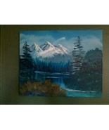 Mountain Reflections Original Landscape Oil Pai... - $75.00