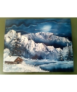 Crater Mountain Original Landscape Oil Painting... - $100.00