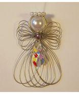 Autism Awareness Angel Ornament Handmade - $7.65