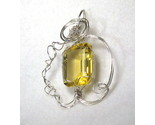 Buy Lemon Quartz Sterling Silver Wire Wrapped Pendant