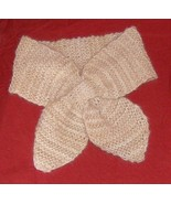 Hand knitted 100% cashmere lotus leaf neck scar... - $60.00