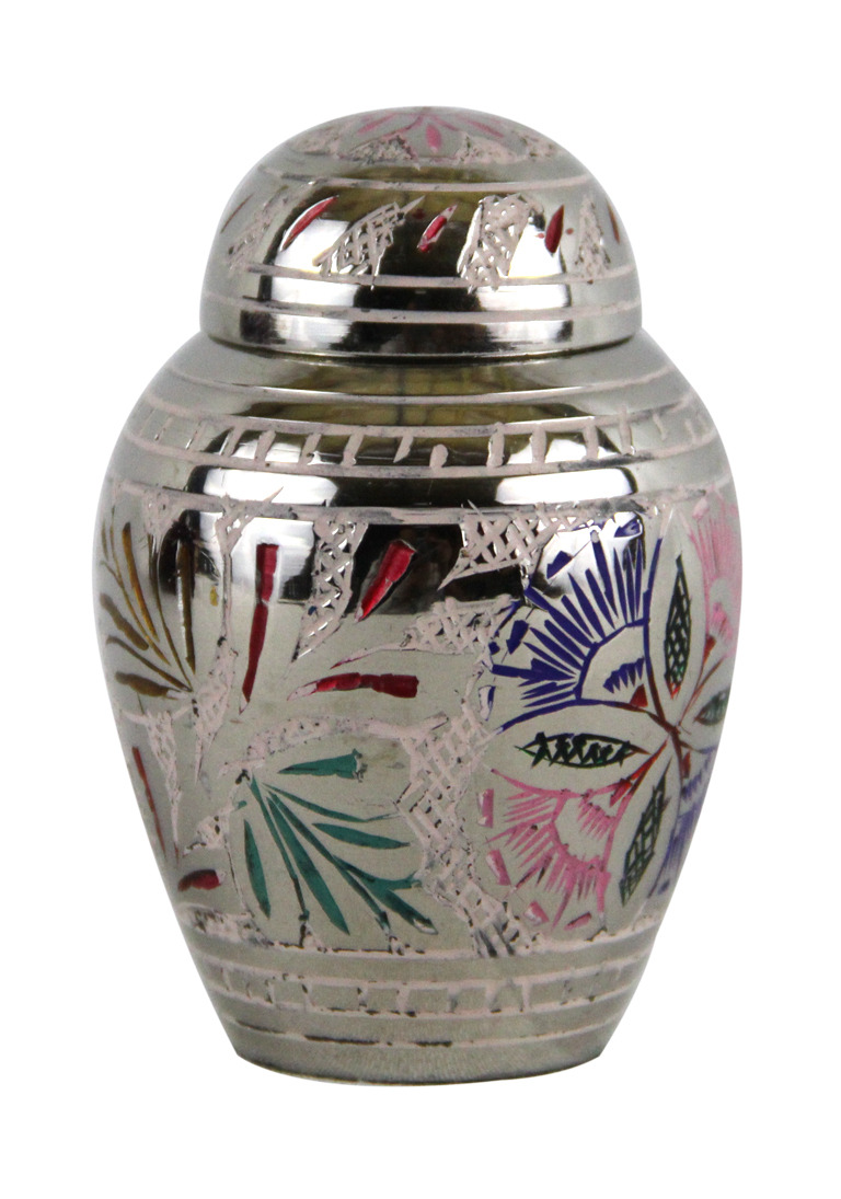 Small funeral urns ashes lattice floral keepsake cremation urn with