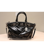 Coach Madison Sophia Black Patent Diagonal Plea... - $185.00
