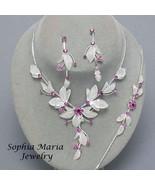 Purple Flower Crystal 3 piece Bridesmaid Weddin... - $19.79