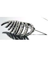 Art Deco Black Bakelite Celluloid Carved leaf R... - $37.00