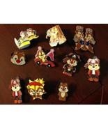 Chipmunk Disney Trading Pins - Set of 10 - $50.00