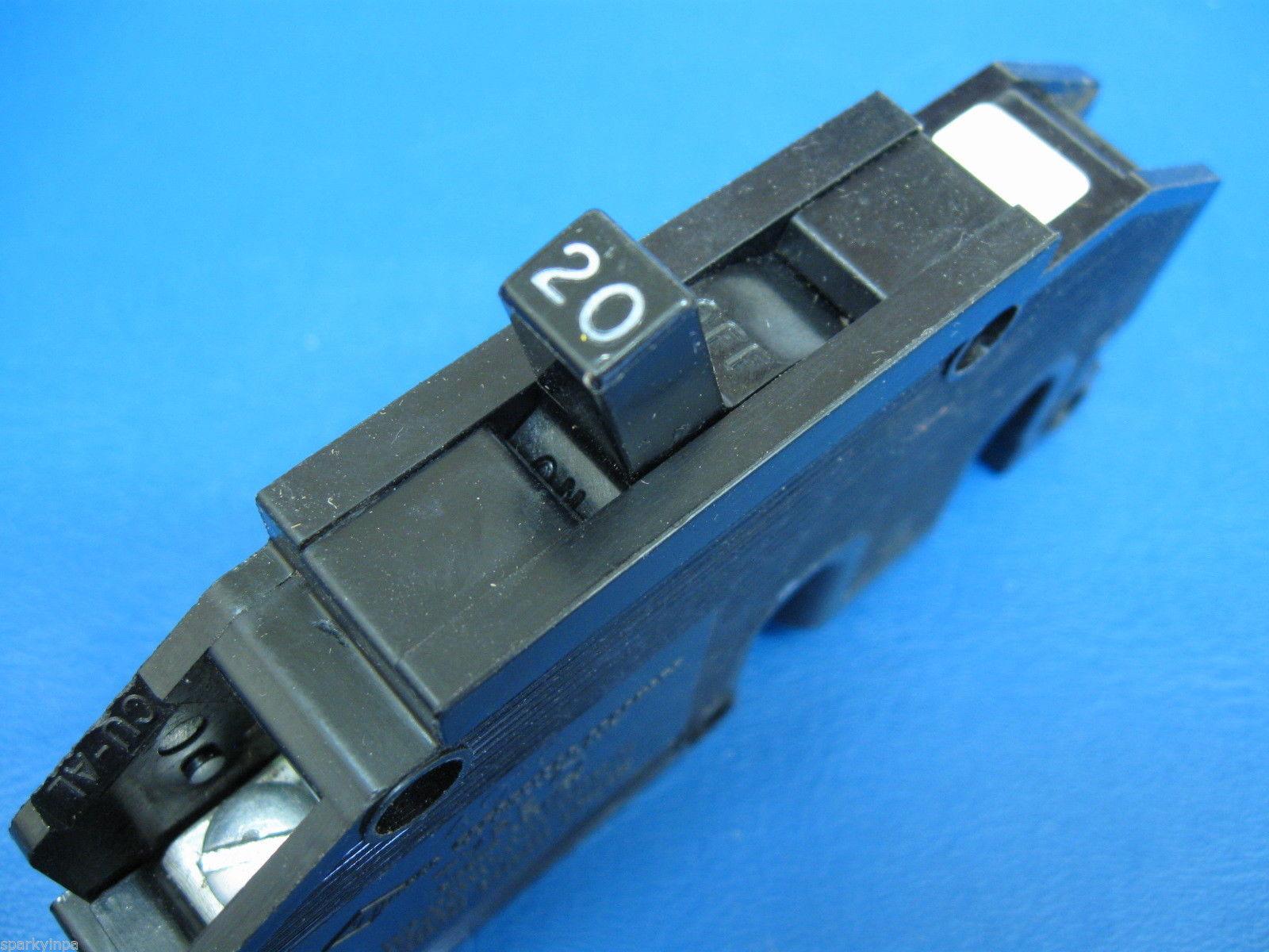 zinsco 20 amp single pole full size breaker type q