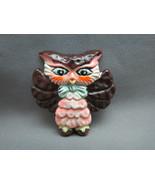 Rare VTG Owl Brooch Marked 1970 Berries Hong Ko... - $12.86
