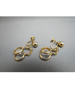 VTG Alice Screw Back  Earrings Wedding Ring Eng... - $14.99