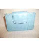 LULU TURQUOISE BOW UPTOWN CHIC CARD WALLET HOLD... - $9.74