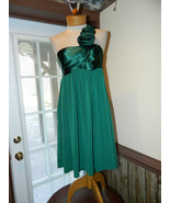 Jessica McClintock size 6 Green One shoulder Co... - $39.99