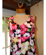 Sag Harbor Size 10P Floral summer dress Cotton ... - $25.99