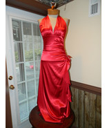 Blondie Nites size 4 Red Halter Style Prom Page... - $34.99