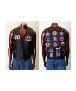 Mens black Sleeveless leather Vest Jacket Negro... - $123.49