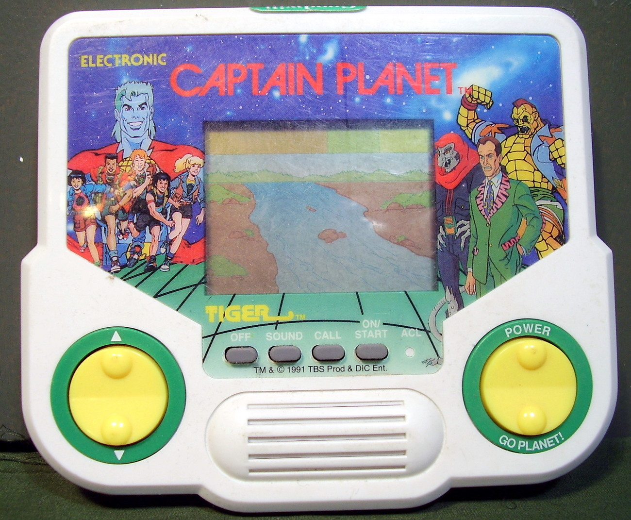 Tiger 1991 Captain Planet Hand Held Electronic Video Game