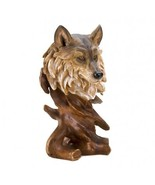 WOLF BUST Statue lifelike intricately detailed ... - $14.89