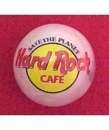 Hard Rock Cafe Marble Logo Pearlized Glass Adve... - $7.50