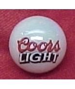 Coors Light Beer Logo Glass Marble Silver Bulle... - $7.50