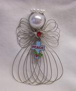 Christmas Peace Cross Angel Ornament Handmade New - $8.00