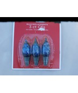 Package of 3 Blue Faceted C6 LED Bulb Replaceme... - $1.99
