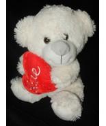 Walmart Valentine Love Bear White Holds Red Hea... - $18.97