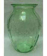 Vintage Antique Vase Green Depression Glass Hoc... - $69.97