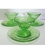 Hocking Block Optic Cone Sherbet Sets (footed, ... - $30.00