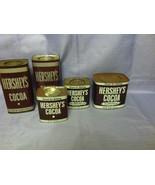 5 Vintage Hershey Cocoa Baking Chocolate Tins - $19.99