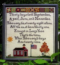 Thirty Days Hath September cross stitch chart L... - $10.80