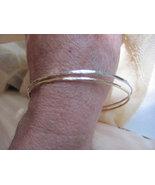 Stack bangles/bracelets 14K rose gold  or 14K Y... - $64.50