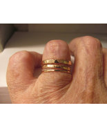 Hammered stack bands set of 3 your choice of 14... - $54.00