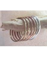 Stack bangles bracelets set of 6 14K gold fille... - $189.00