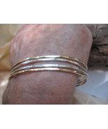 Stacking bangles/bracelets 14K Rose gold or 14K... - $125.50