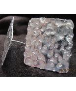 Handmade sterling silver  textured post earring... - $67.00
