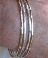 Stacking bangles bracelets 14K rose or14K yello... - $168.50
