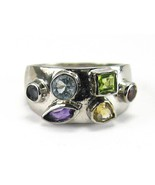 Treasure Chest of faceted Gemstones Sterling Si... - $89.28