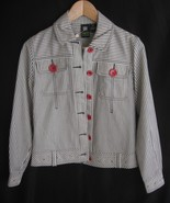 Womens Jacket Size Small Striped Lightweight LA... - $17.95