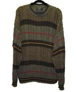 RALPH LAUREN Mens Sweater Size Large Striped Cr... - $18.00