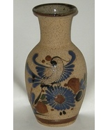 Mexican Pottery Cobalt Hand Painted Sand Finish... - $15.00