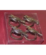 Napkin Rings  Set of 4 Pewter Bird napkin Rings... - $14.84