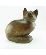 New Hand Carved Ironwood Cat - $19.00
