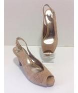 SOFFT Wms SCAFATI Gold Cork Fabric Pumps Shoes ... - $24.50