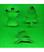Lot of 3 Metal Cookie Cutters ck3 - $4.00