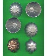 Small Aluminum  and Copper Jello Molds ck15 - $8.00