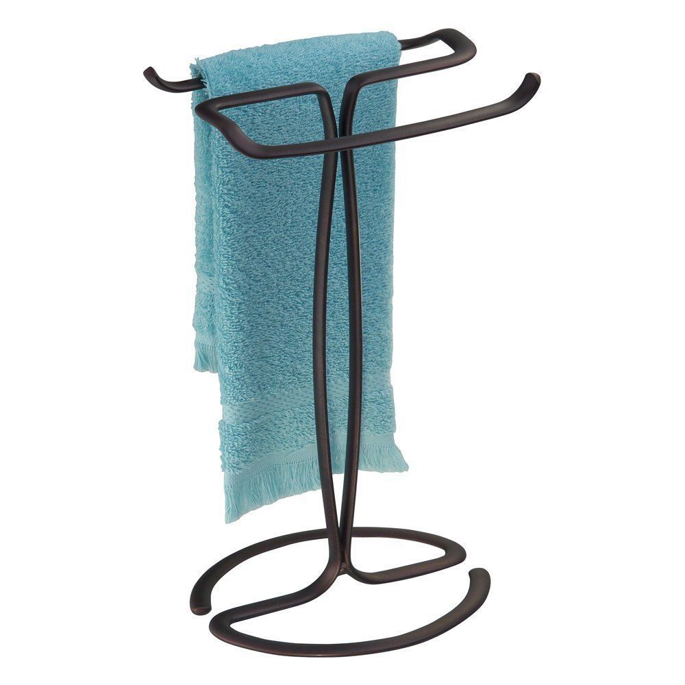 Interdesign axis fingertip towel holder bronze bathroom for Inter designs